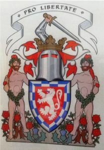 Arms of Ian Francis Wallace 35th Chief of that Ilk