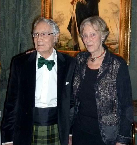 Ian Francis Wallace of that Ilk, 35th Clan Chief with wife Teresa